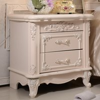 bedroom sets outlet - Specials nightstands stylish European furniture ivory plate cabinet manufacturer outlets