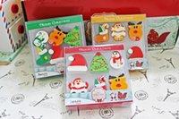 Wholesale Christmas Santa Claus eraser set kids Christmas rubber present children Christmas cartoon Stationery gift box cute school supplies