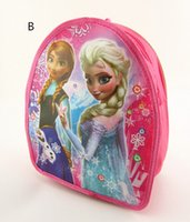 Wholesale Fashion Hot Frozen backpack frozen school bag kids school backpacks child small school bags for girls Size years cm