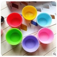 Wholesale 7cm Silicone Cake Moulds Cupcake Silicone Molds Cake Decoration Silicone Baking Molds Cake Decorating Supplies TOP1027