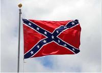Wholesale DHL cm Confederate Battle Flags Dixie flag Printed Flag Confederate Rebel Civil War Flag National Polyester Flag