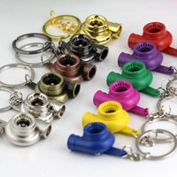 Wholesale Turbo Keychain Spinning Turbo Turbine Turbocharger Keychain Key Chain Ring Keyring Keyfob Keyrings color available