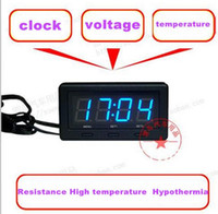 Wholesale Car LED clock Resistance High temperature Hypothermia Voltmeter thermometer Automotive electronic watch