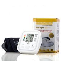 Wholesale 10pcs Arm Blood Pressure Pulse Monitor Health care Monitors Digital Upper Portable Blood Pressure Monitor meters sphygmomanometer