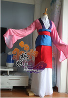 adult mulan costumes - Mulan Costume Custom For Adult and Kids Princess Dress colorful Sequined Cosplay Costume for women and girl party for christmas