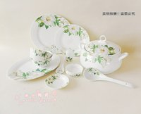 Wholesale 56 tableware high quality bone china tableware wild lily noodle bowl