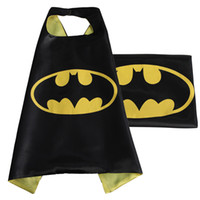 Wholesale 70CM CM Superhero Capes Batman Spiderman Captain America Cosplay Halloween Costume Super Hero Capes