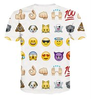 Cheap Women Men Clothing Funny Cartoon Emoji Print 3D T Shirt Punk Camisetas O-neck Short Sleeve Tee Tops
