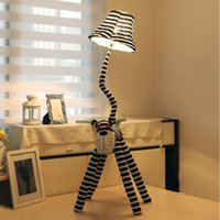 Wholesale 125cm fabric cartoon lamp creative bedroom living room children s room bedside pastoral cat type floor lamp table lamp modern fashion