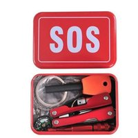 Wholesale Outdoor SOS Self Help Sport Camping Hiking Survival Emergency Gear Tools Box Kit Set Multi function pliers with led flashlight