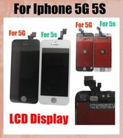 Wholesale LCD Display with phone screen Assembly for iPhone G S With Frame LCD Digitizer touch screen replacement part for DIY touch panel SNP005