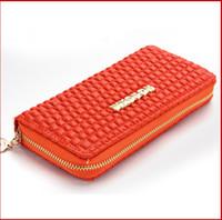 Wholesale Exports designer brand PU leather High grade wallet long section card holder bag for women