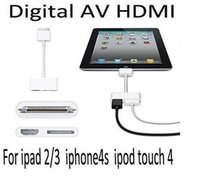 apple tv connector - Digital AV HDMI Adapter cable Dock Connector to HDMI P TV AV Adapter Cable for apple iPhone s iPad