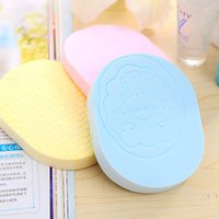 antibacterial face wash - New pearl washing a face massage robot wash sponge soft delicate chamfer antibacterial cleansing pad Makeup Sponge Washing