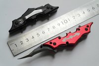 batman batarang - Red Black quot Black Batman Dark Knight Twin Blade Batarang Style Pocket Knife