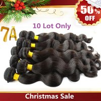 Wholesale Christmas Sale Virgin Brazilian Hair Extensions Unprocessed A Peruvian Indian Malaysian Human Hair Weave Brazilian Body Wave Accept return