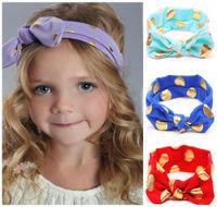baby girl head scarf - New Baby Bow Headbands Girls Hair Accessories Lovely Bunny Ears Hairband Scarf Brozing kids Rabbit Turban Twist Knot Elastic Head Wrap