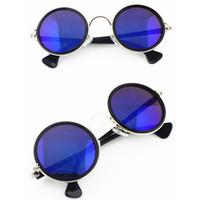 al por mayor x gafas de sol de metal-Al por mayor a 1 x 2016 Estilo retro de la manera redonda clásico marcos de metal gafas de sol caliente de 16 colores