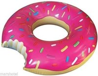 Wholesale Shaped Swim Ring inflatable donut pool float adult pool floats