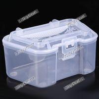 Cheap 10pc lot Fishing Earthworm Box Insect Bug Shrimp Cases Plastic Live Earthworm Fishing Tackle Box Bug Shrimp Bait Box