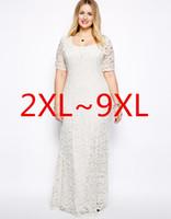 plus size maxi dress - 2015 Plus Size Women Dresses XXL XL Lace Hollow Out Short Sleeves Crochet Top Chiffon Sexy Plus Size White Black Maxi Dress Vestidos Longo
