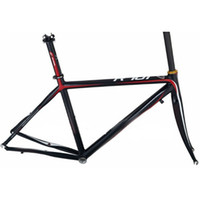 aluminum fork bike - Racing Cycling Bike Aluminum Alloy Frame superlight Road Bike Frame with Carbon Fork with Painting and Decal