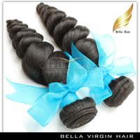 Wholesale Brazilian Malaysian Indian Peruvian Virgin Remy Human Hair Weft Extensions quot quot Natural Color Loose Wave Wavy pc Top A