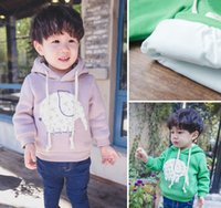 age elephant - 2015 Winter New Arrival Boys Velvet Hoodies Children Elephant Pattern Sweatshirt Cartoon Clothing For Kids Fit Age SS464
