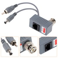 audio transceiver - Hot CCTV Camera Audio Video Power Balun Transceiver BNC UTP RJ45 with Audio Video and Power over CAT5 E Cable S504