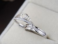 Wholesale Trader Imperial crown couple Silverware rings Valentine s Day diamond rings Wedding Engagement Couple Rings