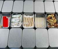 wholesale tea tins - rectangle silver tin box plain metal storage case bin tea gift box