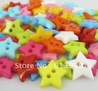Cheap Free Shipping 800pcs Mixed Colors Star Shape Nylon Buttons Fit Sewing or Scrapbooking 12.5mm