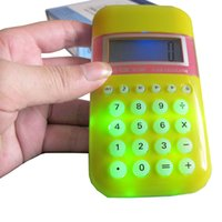 Wholesale Mini Calculadoras Cute Informatica quot LCD Digit Handheld Display Flash Calculator New Calculadora Cientifica