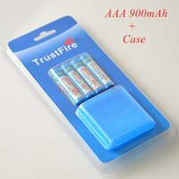 Wholesale 4pcs pack Rechargeable Trustfire AAA mAh NI MH V Battery With Case for Toys MP3 Camera