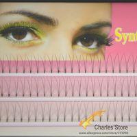 artificial eyelash kit - 3Sizes mm mm mm C lash Curling Black Pro False Eyelash Extension Kits individual Fake Strips Makeup Artificial Tools E