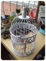 antique candle lanterns - Bird cage H35cm amp H45cm Handmade Antique white metal decorative wedding bird cage candle lanterns home decor