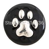 buttons wholesale - NSB1305 Hot Sale Snap Jewelry Button For Bracelet Necklace Fashion DIY Jewelry Dog Design Alloy Snaps