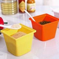Wholesale 2015 Promotion Rushed Cover Red M Eco friendly Stocked Garrafa Colorful Seasoning Box Multi colored Plastic Fashion Spice Jar