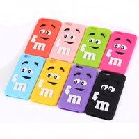 bean skin - MM Milk Chocolate Cartoon Beans Lovely Silicone Silicon gel skin Cell Phone Case Cover for iPhone s s plus