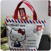Wholesale Hello kitty Tote bag envelop style shoulder bag shopping bag handbag for kids kitty bag children Canvas