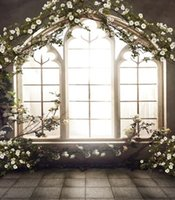 Wholesale French Windows Indoor x7ft Backdrops Wedding Photo Studio Decor Backgrounds Computer Painted Vinyl Photography Backdrop