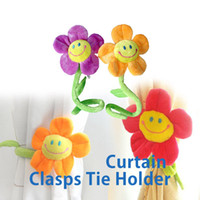 Wholesale Smile Flower Tie Back Clasps Curtain Clip Flexible Tieback Holdback Holder Curtain Accessories PTSP
