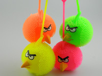 barbed wire ball - The new bird luminous plush ball vent ball vent ball flashing hairy ball elastic ball of barbed wire