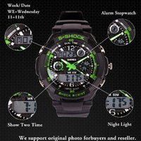 Wholesale mens military watch sports watches time zone digital LED quartz Chronograph jelly silicone swim dive watch