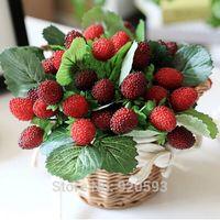 Cheap Wholesale-NEW 9 fruit decoration flower artificial fruit paddle strawberry photo props Artificial plant