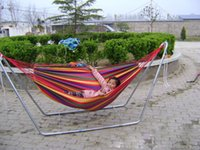 Cheap New Huge Double Cotton Fabric Hammock Air Chair Hanging Swinging Camping Outdoor Red