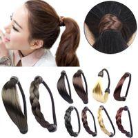 Wholesale Hot Sales Women Girls Hair Bun Maker Tools Braid Straight Wig Elastic Hair Band Rope Scrunchie Ponytail Holder IX28