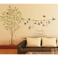 Wholesale Photo Frame Bird Tree Removable Wall Art Stickers Vinyl Decals Home Decor