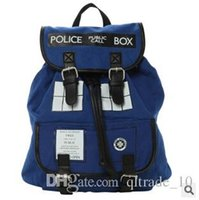 backpack tags - 1pcs CCA2048 Hot Sale Police Tardis Backpack Doctor Who Backpack Dr Who Tardis bag Tardis Knapsack Great Quality Brand new with tag