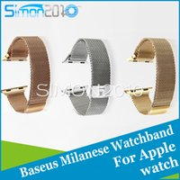Wholesale Baseus strap Milanese loop watch band For Apple Watch mm mm iwatch Stainless Steel Mesh Loop Magnetic Closure Clasp Strap